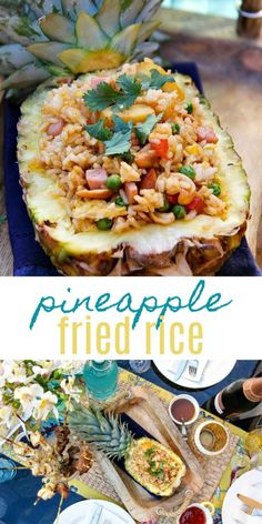 Pineapple Fried Rice Recipe In A Fresh Pineapple - Tonya Staab #pineapple #friedrice