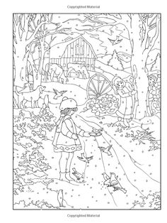 Amazon Creative Haven Winter Wonderland Coloring Book Adult 9780486805016 Teresa Goodridge Books