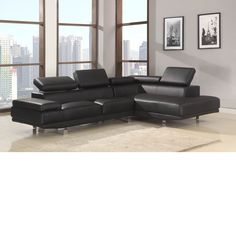 Bonded Leather Sectional Leather Sectional, Sectional Sofa, Couch, Contemporary Home Furniture, Bonded Leather, Chrome, Grand Prairie, Credit Check, Item Number