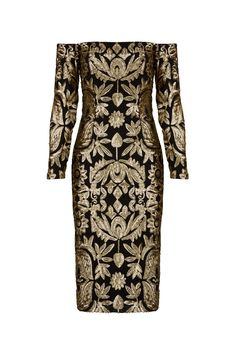 Nicole Miller Sequin Egyptian Dress