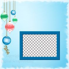 """Layout QP 16A.....Quick Page, Blue, Digital Scrapbooking, Christmas Time Collection, 12"""" x 12"""", 300 dpi, PNG File Format"""