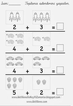 Number Worksheets Kindergarten, Free Math Worksheets, Preschool Writing, Preschool Printables, Preschool Lessons, Preschool Learning, Math For Kids, Learning Activities For Kids, Homeschool