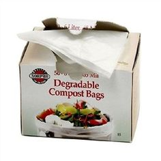 Bio-Degradable Compost Bags, 50 Pieces