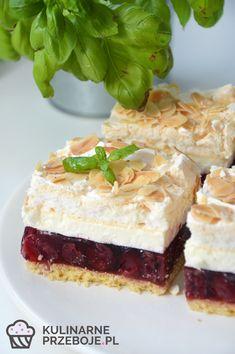 Ciasto zemsta teściowej czy też wiśniowa chmurka to wyrafinowane i przepyszne ciasto idealne na przyjazd zięcia czy synowej. ;) Homemade Cakes, Gelato, Vanilla Cake, Mousse, Delicious Desserts, Recipies, Cheesecake, Strawberry, Baking