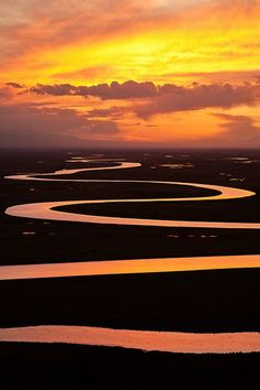 Sunset over Bayinbuluke Prairie in China /// #travel #wanderlust