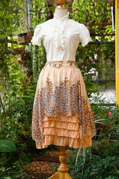 50s to 70s Boho Gypsy Chic skirt /full skirt by chezmoivintage, $30.00