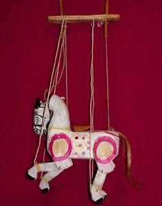 Vintage Horse Marionette