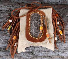 Rattlesnake Totem Neck Bag or Medicine Bag with Trade by misstudy, $68.00