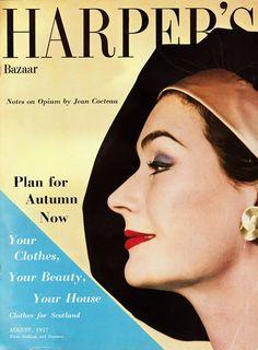 Fred & Ginger Vintage: Vintage Harpers Bazaar Cover, August 1957
