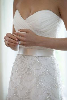 LOVE the detail. Kenneth Pool Wedding Dress. Absolutely beautiful but its a long dress and it would be so much better short....