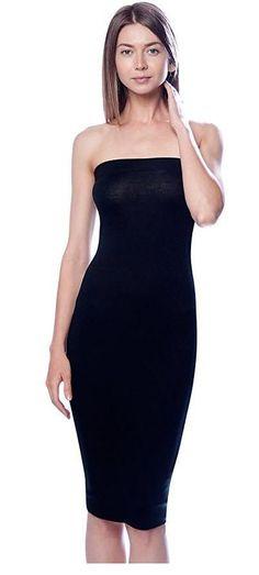 b28d17da1e Solid Color Strapless Bodycon Mini Tube Dress