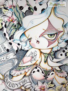 2 babydoll and sweetpea pinkytoast ink painting by pinkytoast, via Flickr