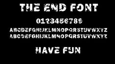 THE END free font by Robert Friedrich