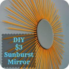 DIY Sunburst Mirror Tutorial Dollar Store