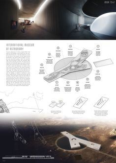 Results of the Competition Atacama Museum of Astronomy Presentation Board Design, Architecture Presentation Board, Architectural Presentation, Architectural Models, Architectural Drawings, Architecture Panel, Architecture Design, Architecture Diagrams, Museum Plan