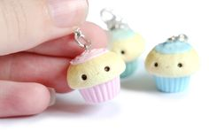 Kawaii Cupcake Polymer Clay Charms by RawrRufus.deviantart.com on @DeviantArt