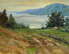 Tom's View-oil Plein air painting of Lake Canandaigua in Finger Lakes Region.  Www.jillwagnerart.com