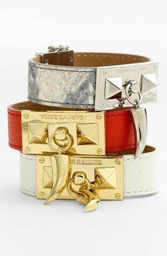 ♠️Vince Camuto 'Horn & Pyramid' Leather Bracelet
