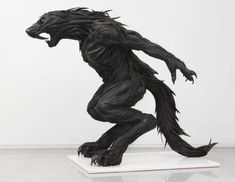 Sculptures Made From Old Tires Gallery: Tire Sculpture: Werewolf Picture | Break.com