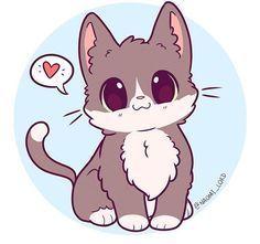 Cute baby animals, cute kawaii animals, kawaii cat, kawaii chibi, c Cute Kawaii Animals, Cute Animal Drawings Kawaii, Cute Drawings, Kitten Drawing, Cute Cat Drawing, Fox Drawing, Chat Kawaii, Kawaii Cat, Kawaii Chibi