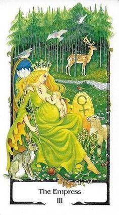 The Empress - Tarot of the Old Path таро древней мудрости Major Arcana Cards, Tarot Major Arcana, Beltane, Samhain, Tarot Significado, The Hierophant, Tarot Card Meanings, The Empress, Tarot Spreads