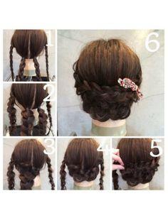 The topic in the wear! Airi Tsukasa& hair arrangement is super easy to understand Pretty Hairstyles, Braided Hairstyles, Wedding Hairstyles, Braided Updo, Hair Arrange, Hair Videos, Hair Designs, Prom Hair, Bridal Hair
