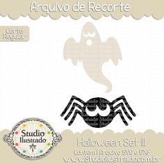 Halloween Set III, Halloween, Set,Halloween, morcego, bat, skul, crânio, esqueleto, aranha, spider, abóbora, pumpkin, cemitério, graveyard, moon, lua, dia das bruxas, bruxa, bruxas, witch, witches,  vassoura, broom, brommstick,  arquivo de recorte, corte regular, regular cut, svg, dxf, png, Studio Ilustrado, Silhouette, cutting file, cutting, cricut, scan n cut.