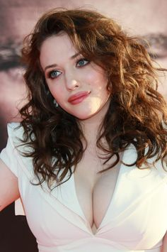 2 Broke Girls actress Kat Dennings. Not your typical stick skinny Hollywood actress and it's refreshing. I think she's absolutely gorgeous.