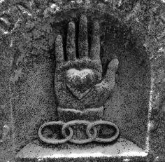March's Free Embroidery Pattern! The folk art design: Heart in Hand Symbol Hand, Odd Fellows, Talk About Love, Heart Hands, Embroidery Patterns Free, Vintage Designs, Folk Art, Symbols, Prints