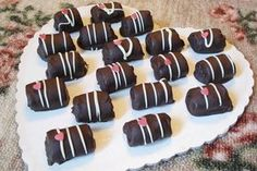 Σοκολατάκια φουντουκιού με κράνμπερι