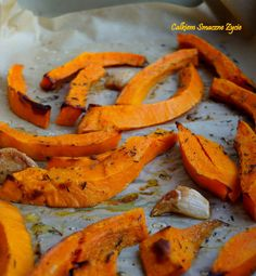 Quite Tasty Life: ROASTED PUMPKIN WITH GARLIC AND THYME