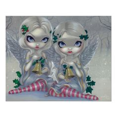Items similar to The Holly and the Ivy christmas carol winter fairy art print by Jasmine Becket-Griffith on Etsy Christmas Fairy, Christmas Carol, Christmas Angels, Christmas Ideas, Winter Fairy, Winter Holiday, Fairy Pictures, Moon Pictures, Mystique