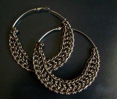 Croched Hoop Earrings