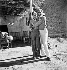 Annemarie Schwarzenbach with her diplomat husband Claude Clarac   She was a lesbian and he was gay.