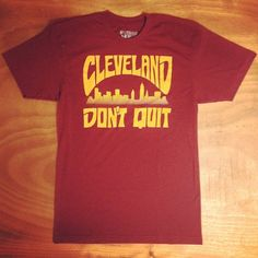 Cleveland Don't Quit Rock Tee by MysteriosoRockArt on Etsy