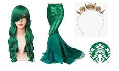 Halloween Costumes Pop Culture, Starbucks Halloween Costume, Halloween Costumes For Teens Girls, Mermaid Costume Kids, Mermaid Halloween Costumes, Halloween 2018, Halloween Ideas, Halloween Party, Siren Costume