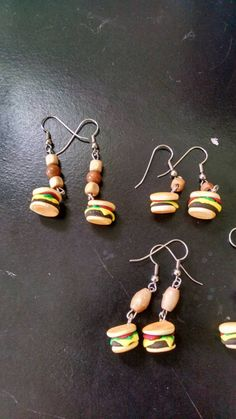 Check out this item in my Etsy shop https://www.etsy.com/listing/262958709/made-to-order-hamburger-earings-fast