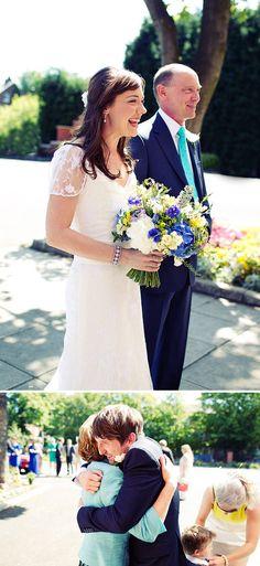 Bridal Bouquet Blue Hydrangea Cornflower Blue Delphinium And Yellow Freesia | Rock My Wedding