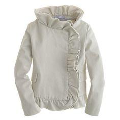 Girls' Chino Ruffle Jacket