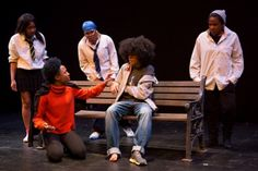 The cast of 2012 winning play, A Concrete Jungle Full of Wild Cars, in the category 'Plays for Teenage Audiences'. The cast are from WAC Performing Arts and Media College