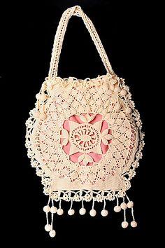 Venetian Crochet Opera Bag