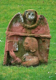 Headstone at Dryburgh Abbey, near St. Boswells , Scottish Borders, Great Britain.