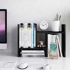 wood desktop adjustable organizer storage rack in 2019 study desk rh pinterest com