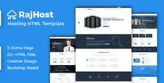 RajHost - Web Hosting with WHMCS HTML Template . RajHost- Web Hosting with WHMCS HTML Template or Technology website. RajHost is a responsive HTML5 and CSS3 technology based on Latest Bootstrap Framework, Comes with 22+ Page templates,3 Homepage layout and 8+ Custom shortcode elements. We have included all the essential pages for a hosting