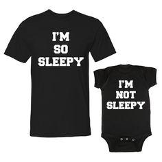 We Match!™ I'm So Sleepy & I'm Not Sleepy T-Shirt & Baby Bodysuit Set