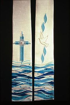 Church Banners Designs, Church Design, Baptism Banner, Première Communion, Cross Quilt, Christian Art, Religion, Kirchen, Religious Art