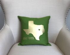 Baylor Texas Throw Pillow I Need this in my life!