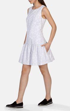 Хлопковое жаккардовое платье Karen Millen. Цвет ,  купить за 6444р в официальном интернет магазине karenmillen.ru с доставкой по России