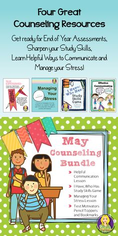Need help jump-starting your May counseling lessons?  Here's the help you need!