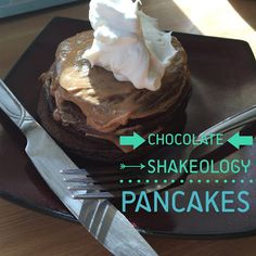 Chocolate Shakeology Pancakes - 21 Day Fix Recipe